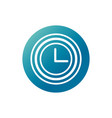 office clock time hour supply block gradient style vector image