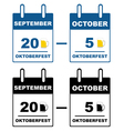 Oktoberfest calendar vector image