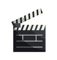 Open clapboard icon in cartoon style vector image vector image