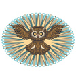 Ornamental Owl3 vector image vector image