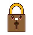 padlock security symbol kawaii cute cartoon vector image vector image