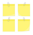 paperclip with blank white notepaper vector image