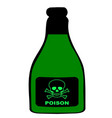 poison bottle vector image vector image