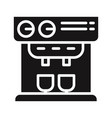 professional coffee machine icon vector image