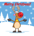 Reindeer christmas cartoon vector image vector image