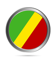 Republic of the Congo flag button vector image vector image