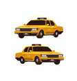 retro yellow taxi cabs set isometric view vector image vector image