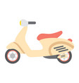 scooter flat icon transport and vehicle vector image