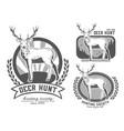 set of logos deer vector image vector image