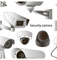 set security camera pattern vector image