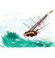Ship at sea vector | Price: 1 Credit (USD $1)