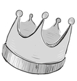 Simple crown icon vector image vector image