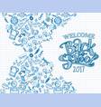 sketch back to school banner vector image vector image