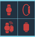 smart watches set vector image vector image