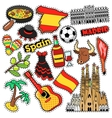 Spain Travel Scrapbook Stickers Patches Badges vector image vector image