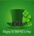 st patricks day background with top hat and vector image