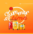 summer time concept with color handbags vector image vector image