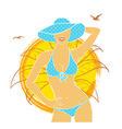 Summer woman vector image