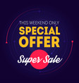 super sale banner template special offer this vector image vector image