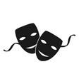 theatre masks vector image vector image