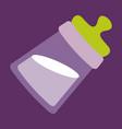 tilted kids bottle of milk with nipple in flat vector image vector image