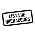 to do list stamp in spanish vector image