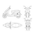 trendy scooter outline isolated on white vector image