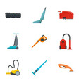 vacuum cleaner icon set flat style vector image