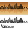 vancouver v2 skyline vector image vector image