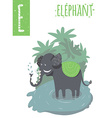 vertical of elephant with colorful jungle vector image vector image