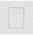 vertical white blank picture frame realistic vector image vector image