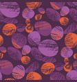 vintage violet and orange trendy seamless pattern vector image vector image