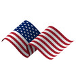 waving flag united states vector image vector image