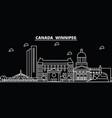 winnipeg silhouette skyline canada - winnipeg vector image vector image