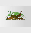 world wildlife day vector image vector image