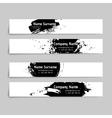 Set of abstract ink and splashes banners vector image