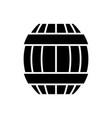 barrel icon black sign on vector image