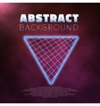 Neon Poster Retro 1980s Style Disco Background vector image