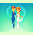 wedding ceremony with husband and wife vector image
