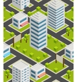 Seamless background city Isometric vector image