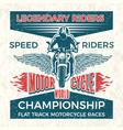 vintage poster for club of bikers grunge vector image