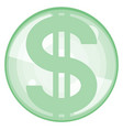 abstract dollar icon vector image