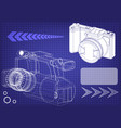 3d model of the camera vector image vector image