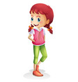 a girl character on white background vector image
