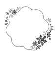 abstract winter design frame with snowflakes vector image vector image