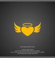 angel heart icon simple romance element vector image