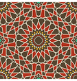 arabesque seamless pattern in red and brown