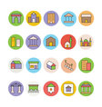 Architecture and Buildings Icons 4 vector image