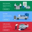 Auto Insurance Horizontal Banner Set vector image vector image