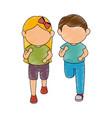 avatar kids design vector image